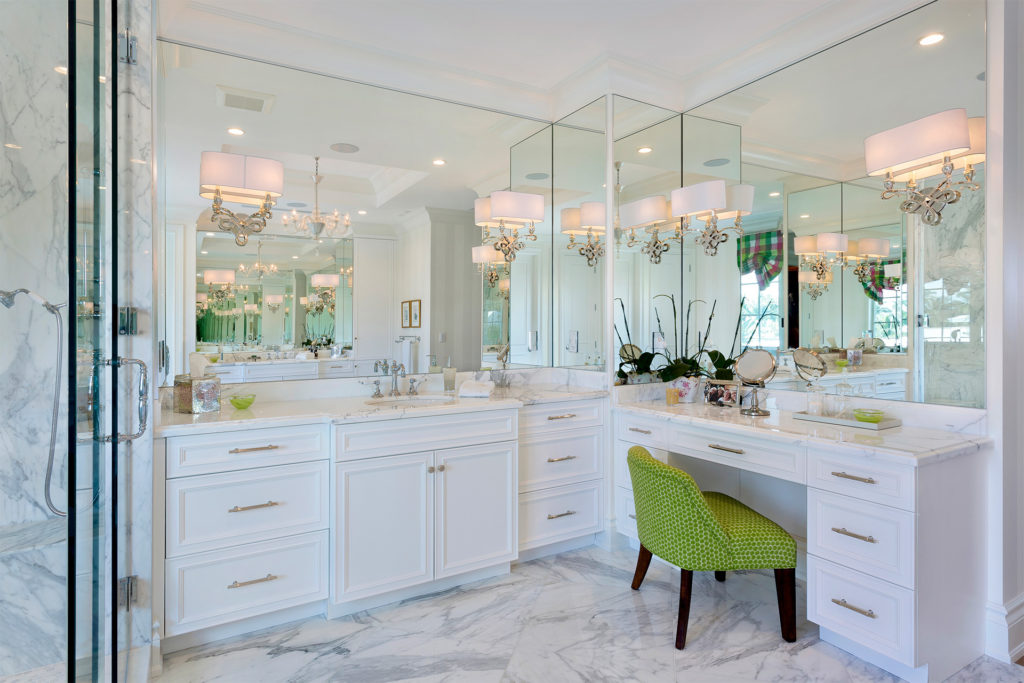 The Place For Kitchens and Baths South Florida Interior Design Interior Designer Bathroom Design Kitchen Design Mirror Mounted Sconces Transitional Style